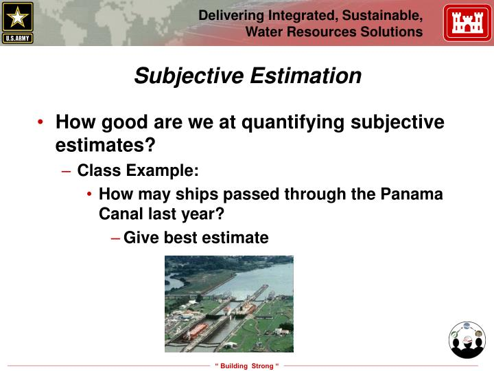 Subjective Estimation