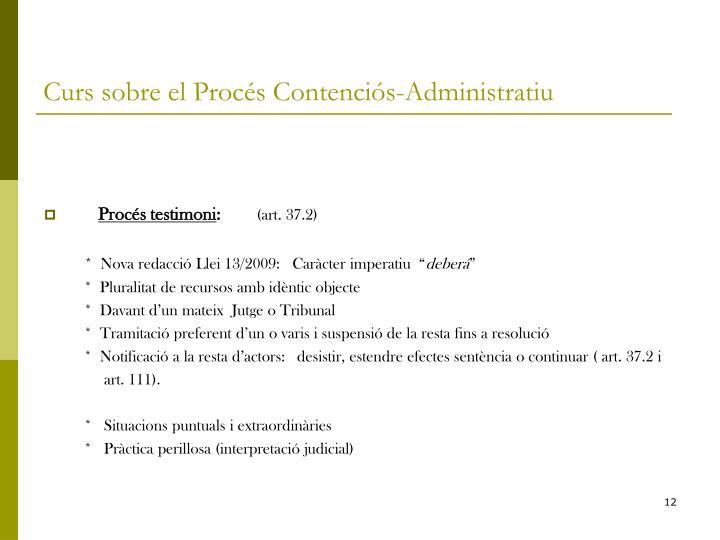 Curs sobre el Procés Contenciós-Administratiu