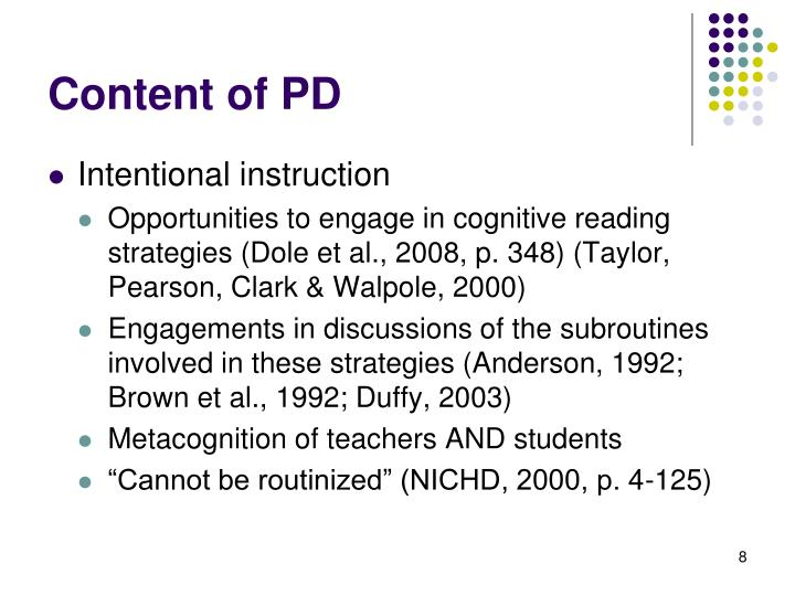Content of PD