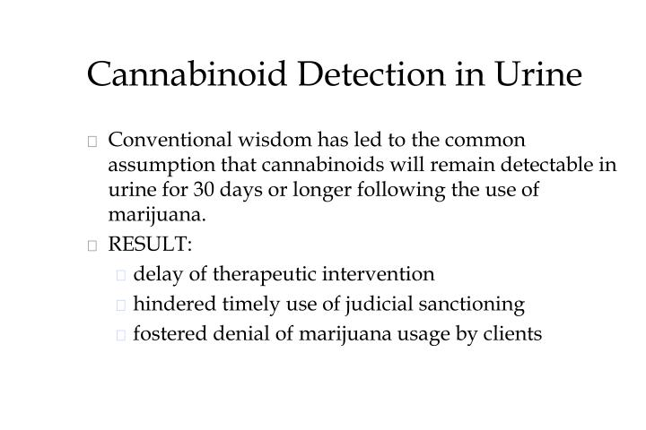 Cannabinoid Detection in Urine