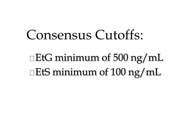 Consensus Cutoffs: