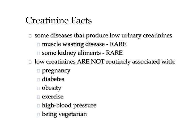 Creatinine Facts