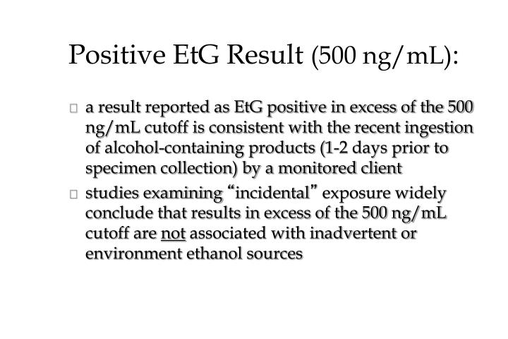 Positive EtG Result