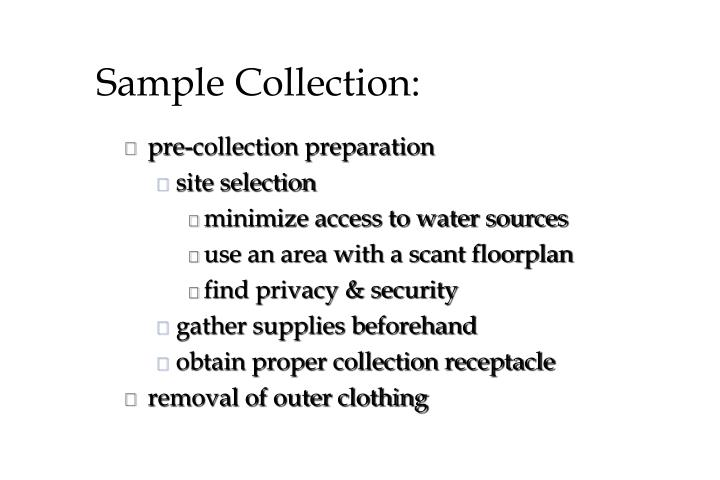 Sample Collection: