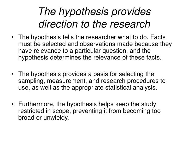 Research Question vs Research Hypothesis, when to use?