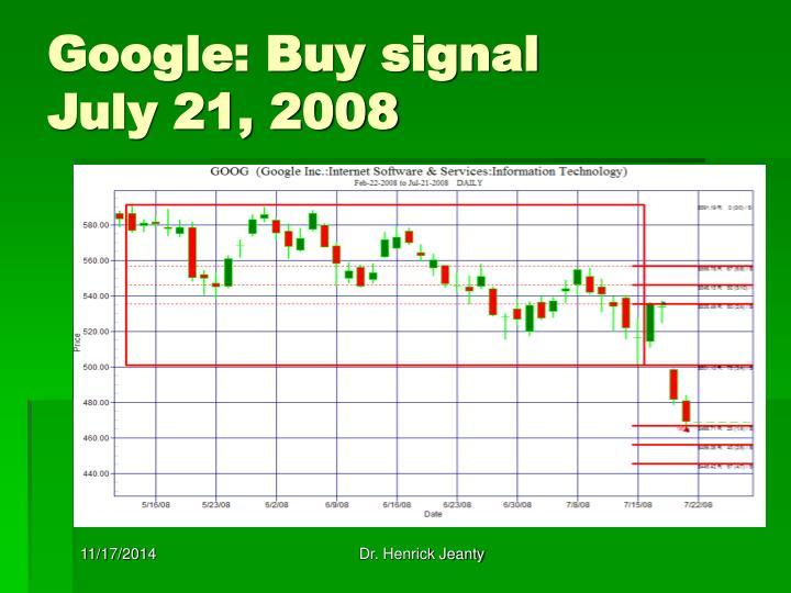 Google: Buy signal