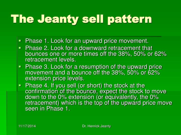 The Jeanty sell pattern