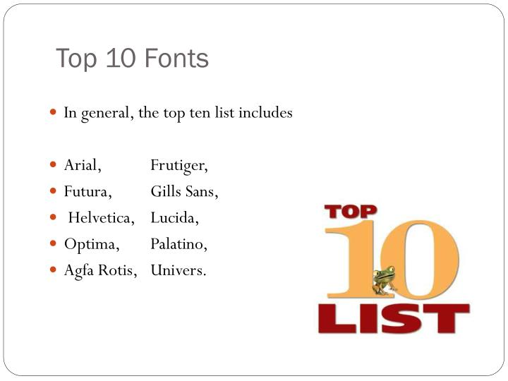 best fonts for powerpoint presentations