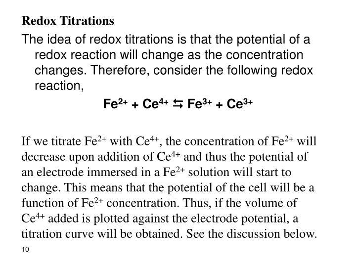 Redox Titrations