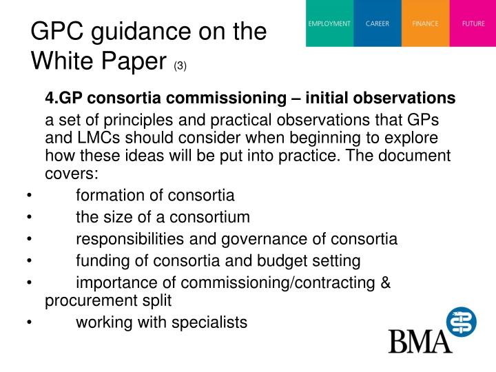 GPC guidance on the