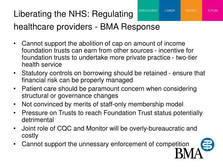 Liberating the NHS: Regulating