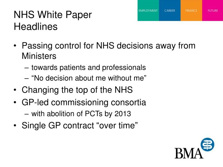 NHS White Paper