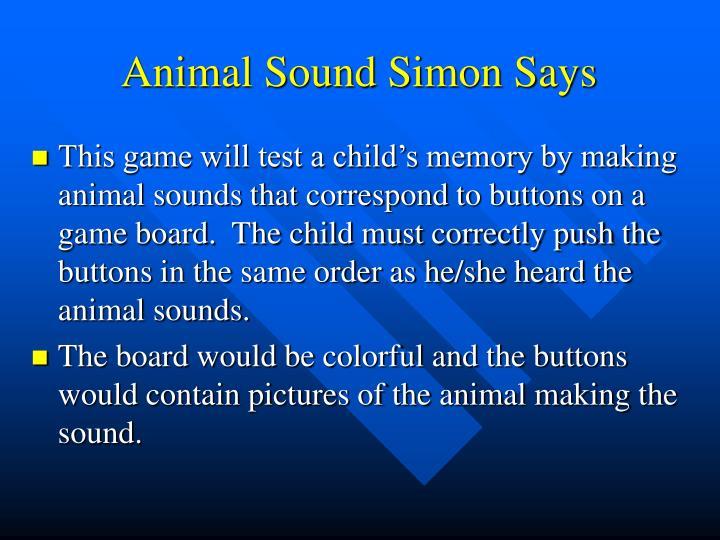 Animal Sound Simon Says