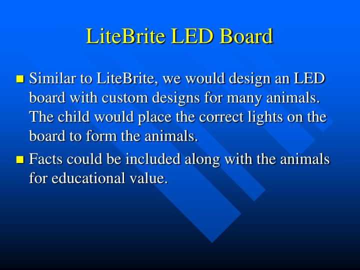 LiteBrite LED Board