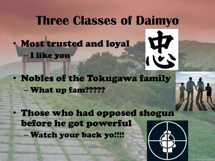 Three Classes of Daimyo