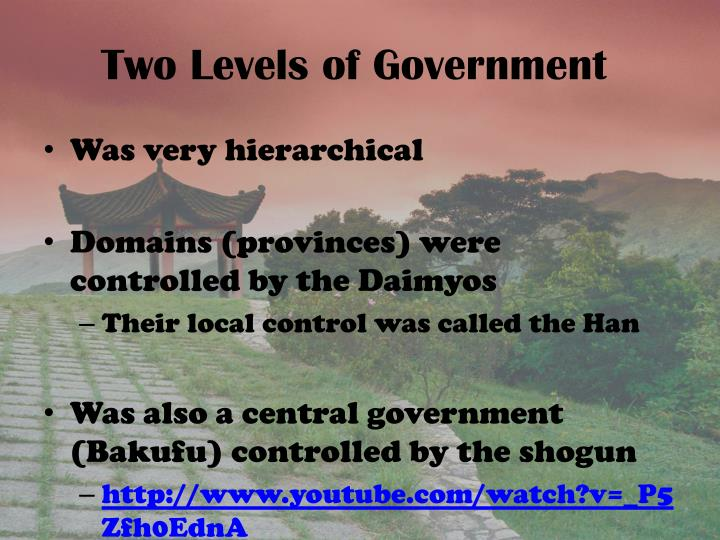 Two levels of government