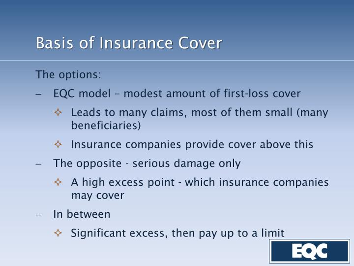 Basis of Insurance Cover
