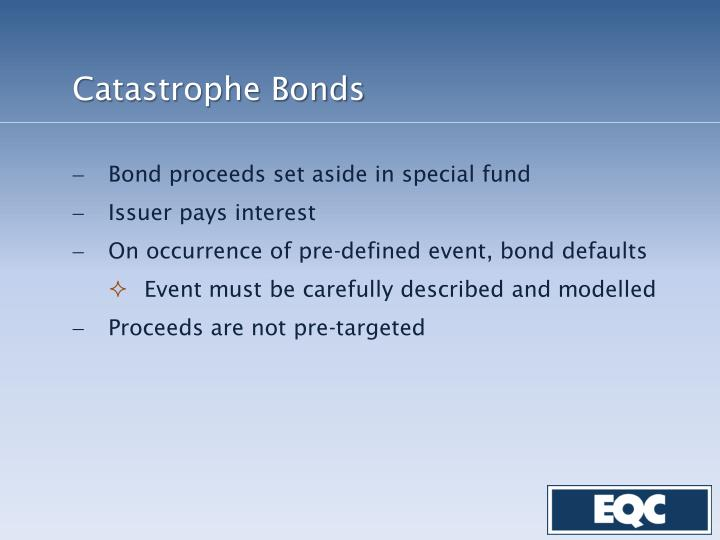 Catastrophe Bonds