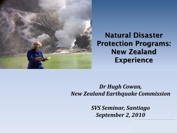 Natural Disaster Protection Programs: