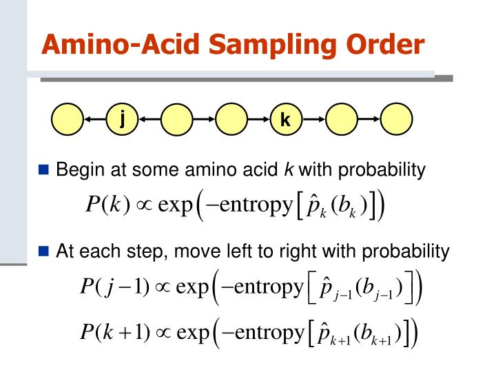 Amino-Acid Sampling Order