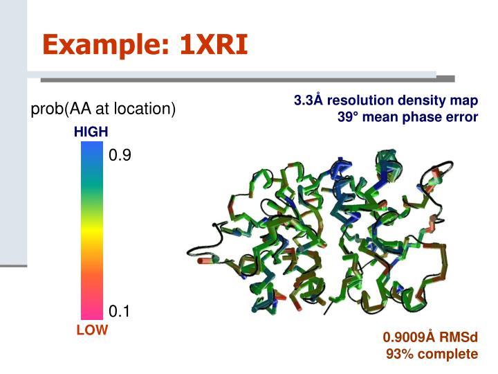 Example: 1XRI