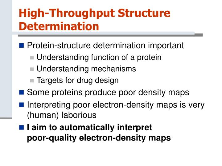 High-Throughput Structure Determination