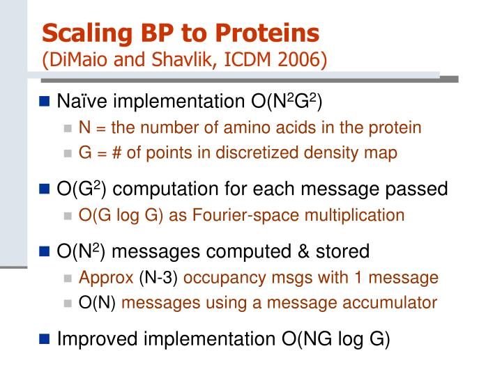 Scaling BP to Proteins