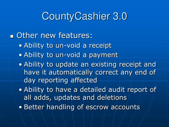 CountyCashier 3.0
