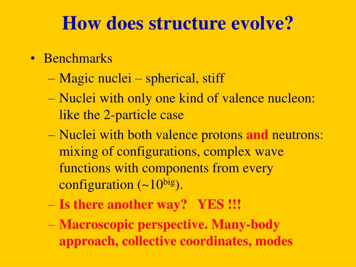 How does structure evolve?