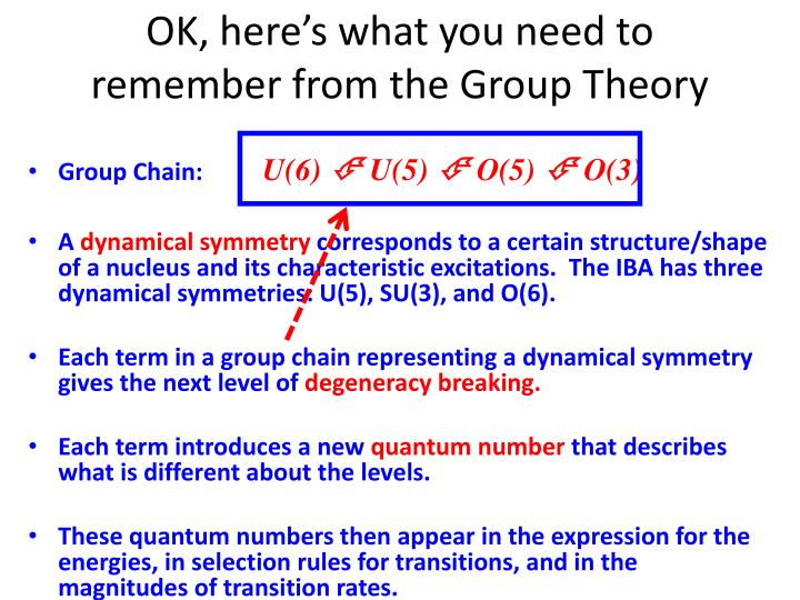 OK, here's what you need to remember from the Group Theory
