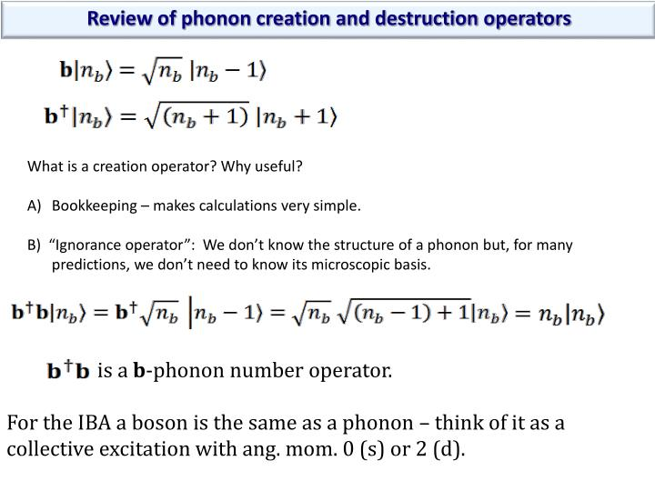 Review of phonon creation and destruction operators
