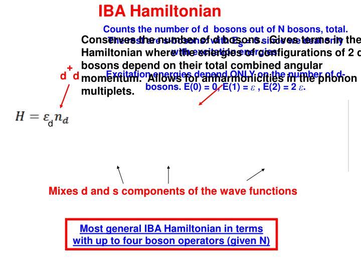 IBA Hamiltonian
