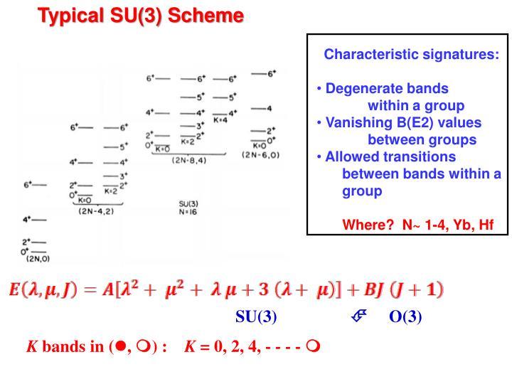 Typical SU(3) Scheme