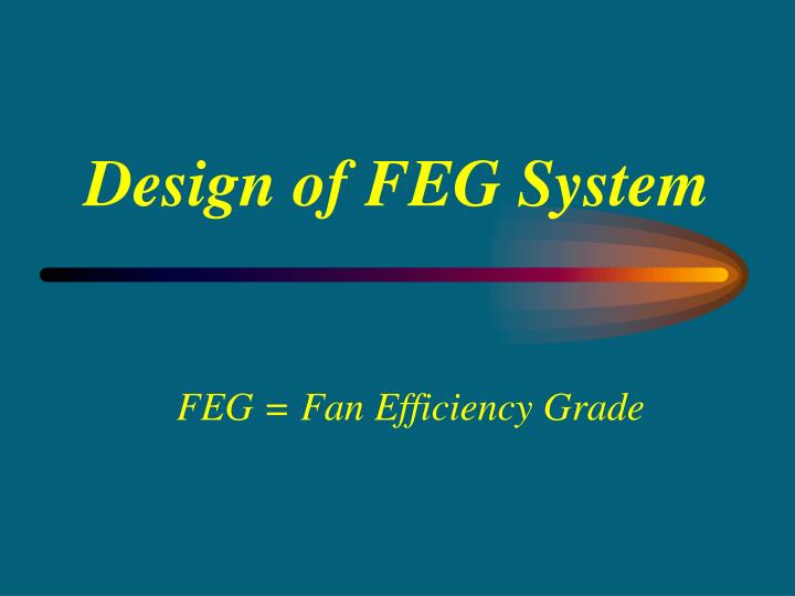 Design of FEG System
