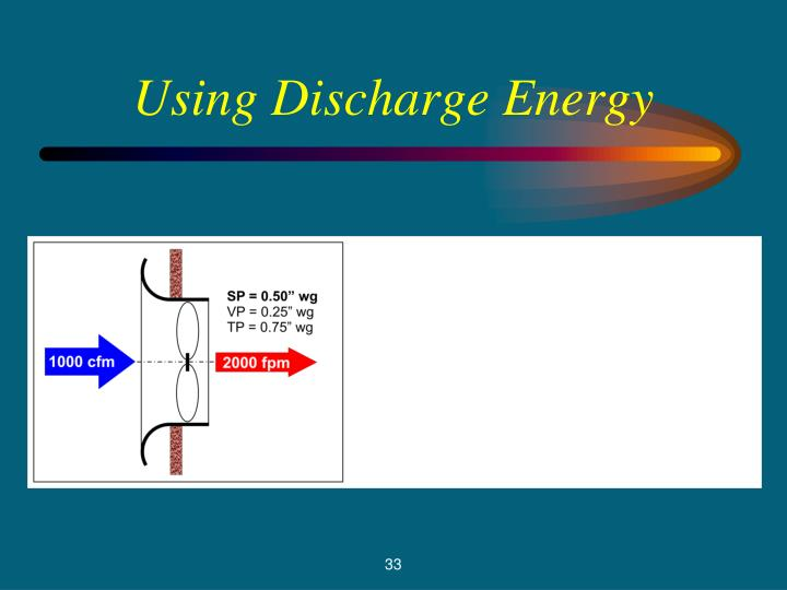 Using Discharge Energy