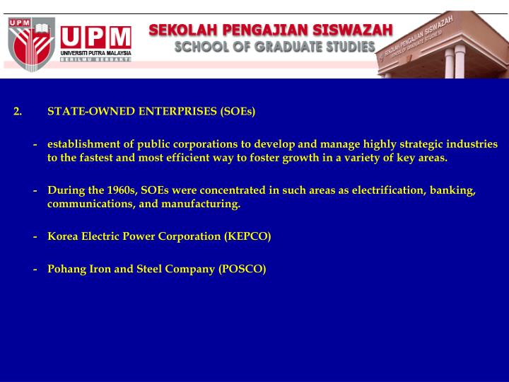 STATE-OWNED ENTERPRISES (SOEs)