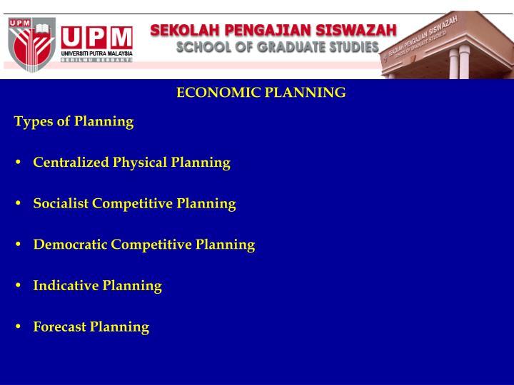 ECONOMIC PLANNING