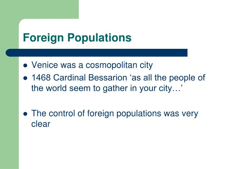 Foreign Populations
