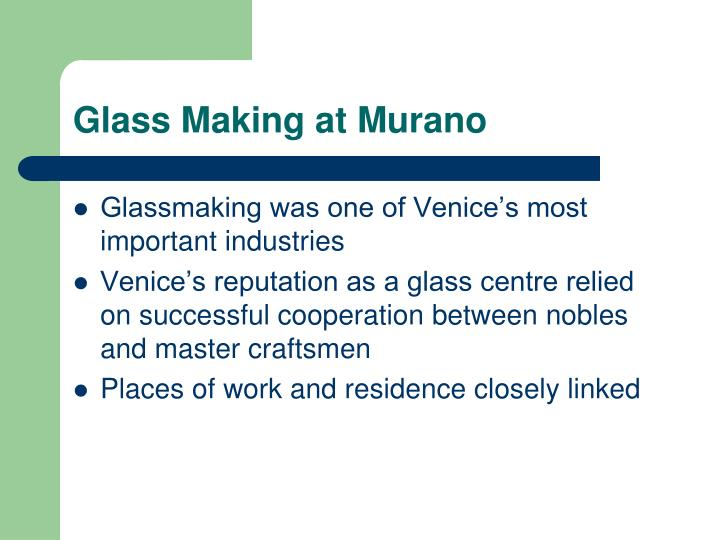 Glass Making at Murano