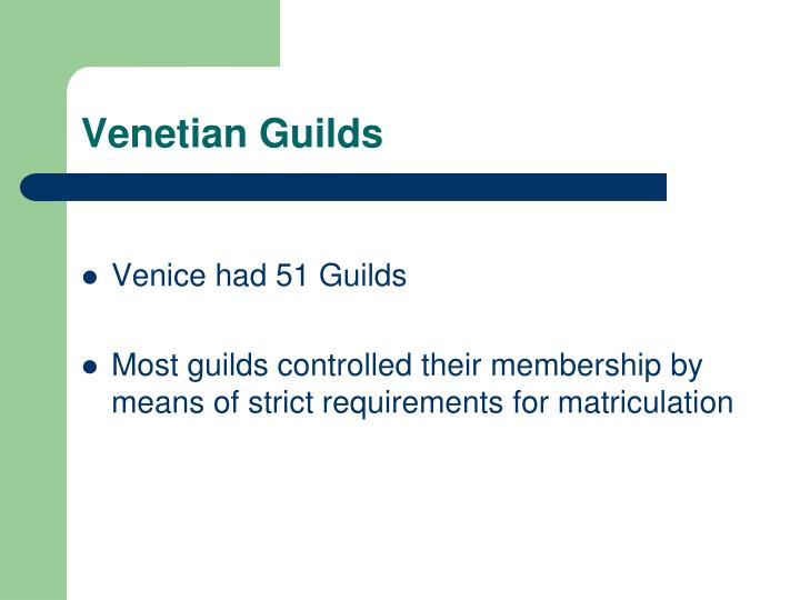 Venetian Guilds