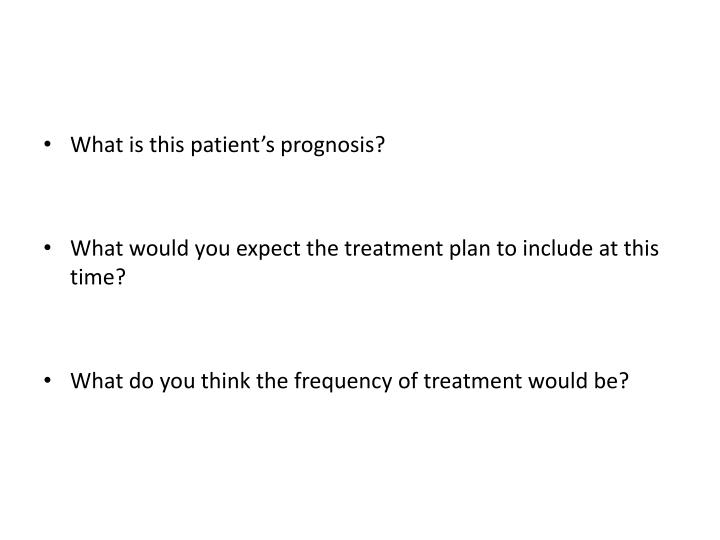 What is this patient's prognosis?