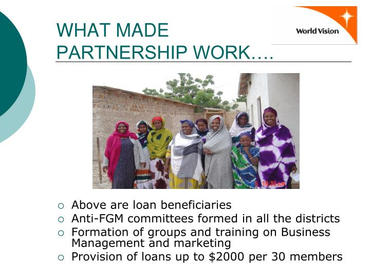 WHAT MADE PARTNERSHIP WORK….