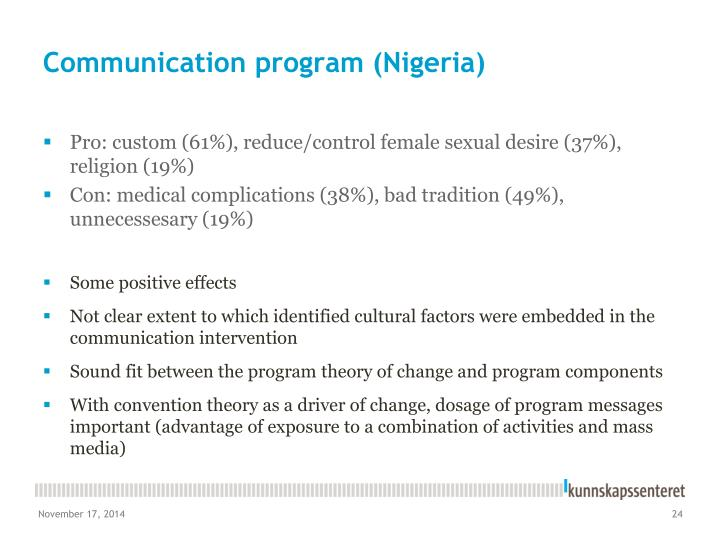 Communication program (Nigeria)