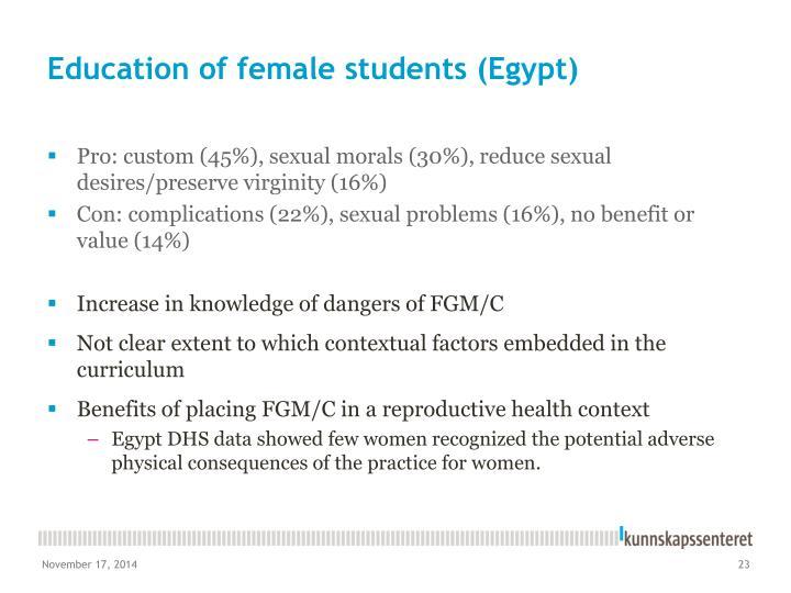 Education of female students (Egypt)