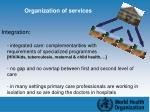 organization of services1