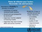 pistes de r flexion pour l action reconsider role and functions