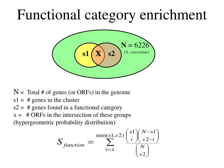 Functional category enrichment