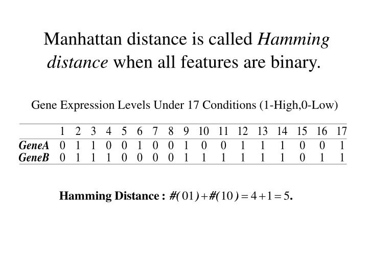 Manhattan distance is called