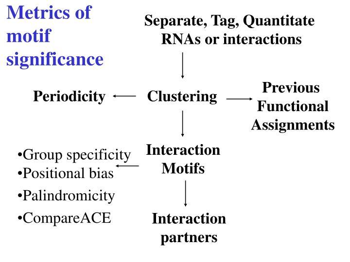 Metrics of motif significance