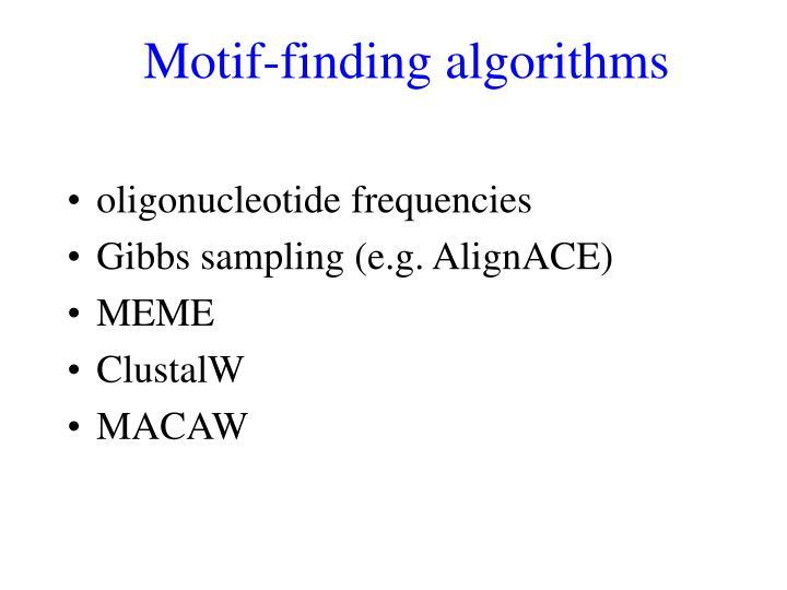 Motif-finding algorithms